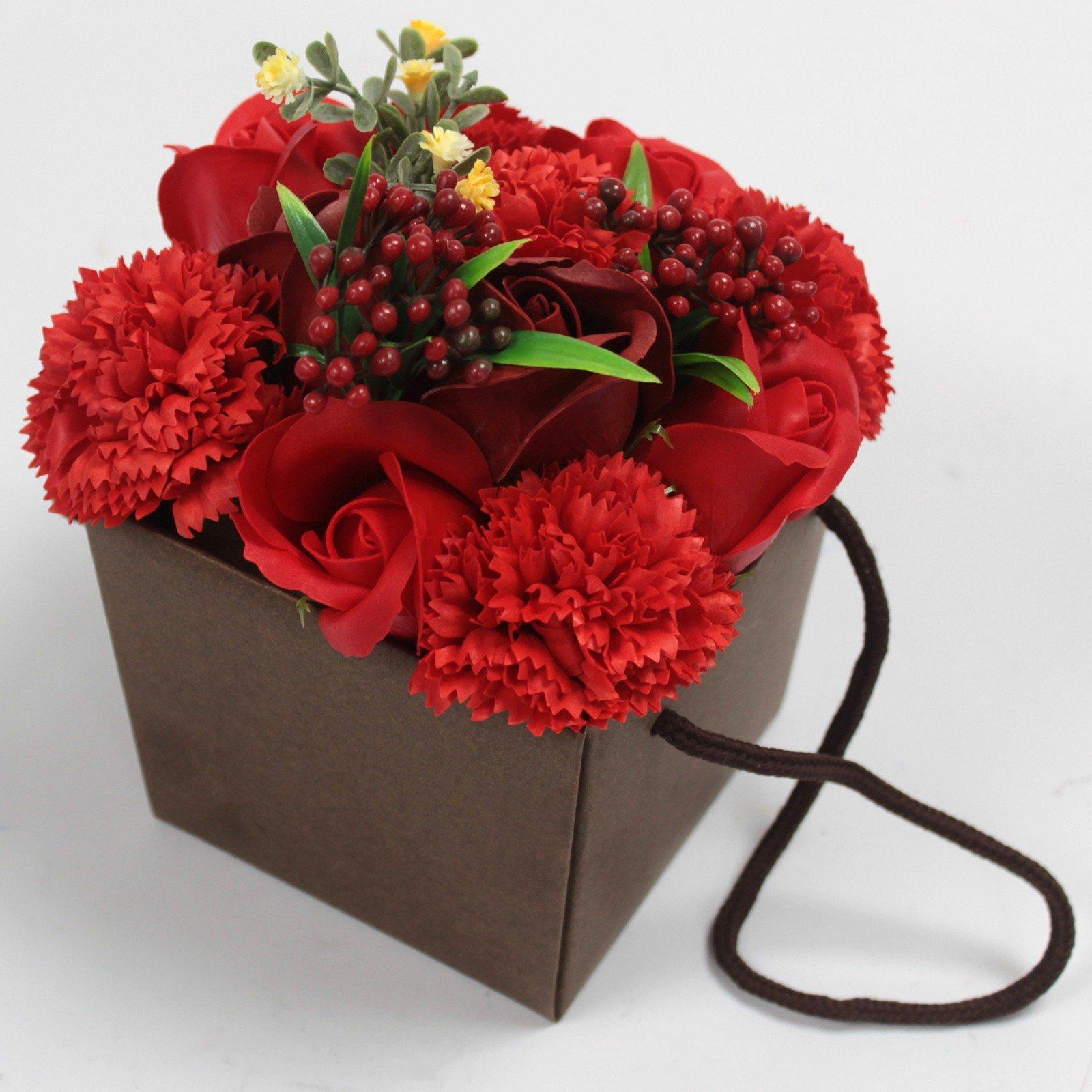 Soap Flower Bouquet Red rose & Carnation