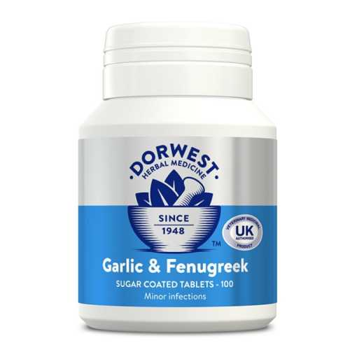 Dorwest Garlic and Fenugreek Tablets For Cats and Dogs