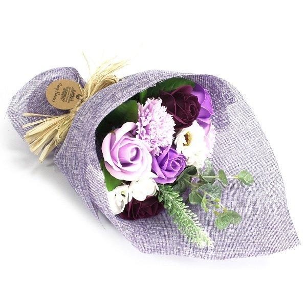 Purple Standing Soap Flower Bouquet 1