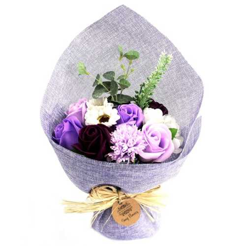 Purple Standing Soap Flower Bouquet