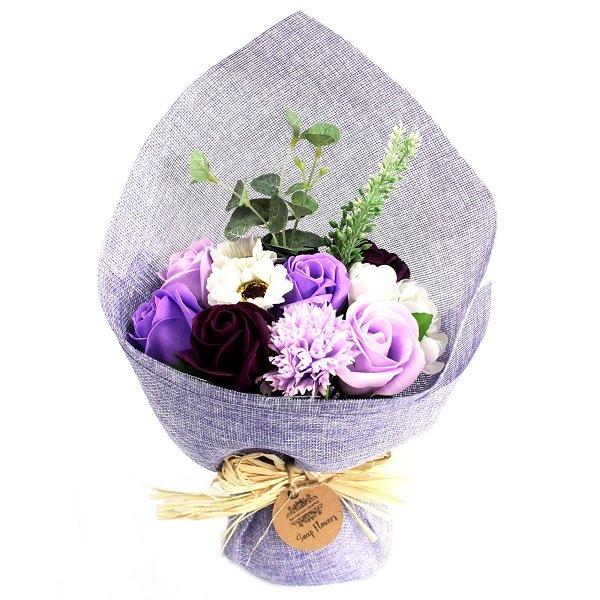 Purple Standing Soap Flower Bouquet