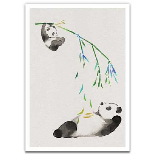 Bamboo Swing - Eco-Friendly Greeting Card