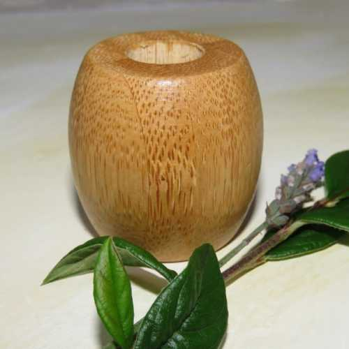 Bamboo Toothbrush Holder single