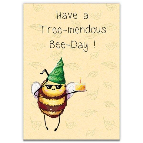 Bee Day Sunnies - Eco-Friendly Birthday Card