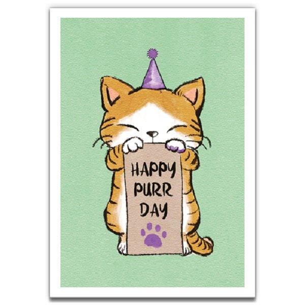 Purrday - Eco-Friendly Birthday Card