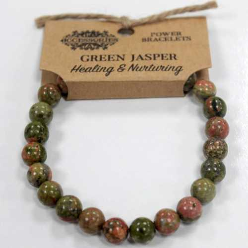 Green Jasper Bracelet - Healing and Nurturing