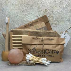 Zero Waste Bathroom Starter Gift Set Natural Jute Bag