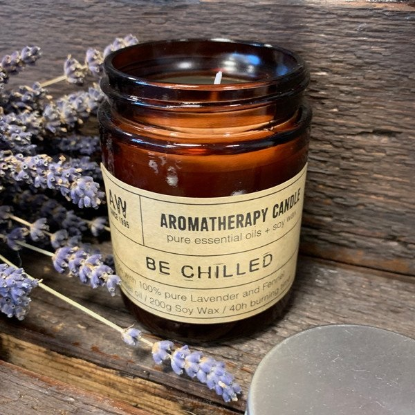 Aromatherapy Soy Wax Candle - Be Chilled home