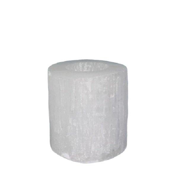 Selenite-Cylinder-Candle-Holder