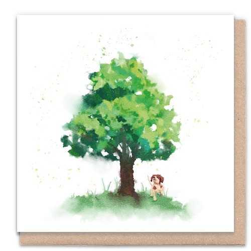Tree Wishes Dog - Eco-Friendly Greeting Card