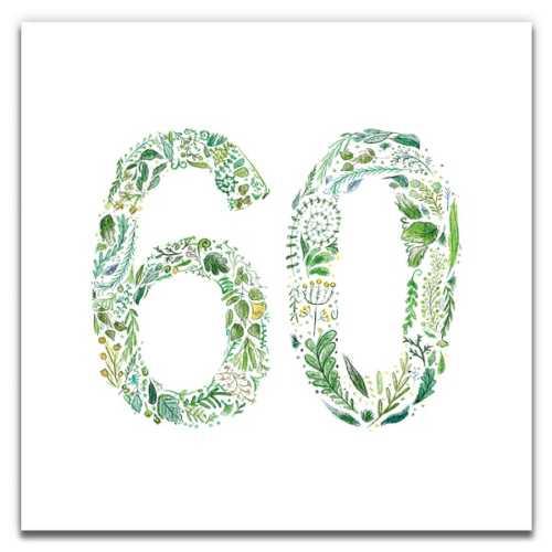 Green 60 - Eco-Friendly Birthday Card
