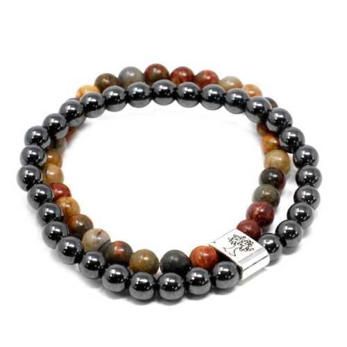 Magnetic Gemstone Bracelet - Picasso Jasper