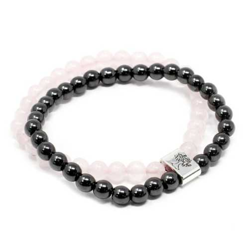 Magnetic Gemstone Bracelet - Rose Quartz