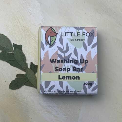 Organic Palm-Free Plastic Free Washing Up Bar - Lemon 100g