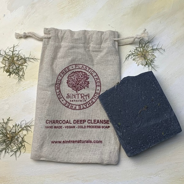 Charcoal Deep Cleanse Soap in bag