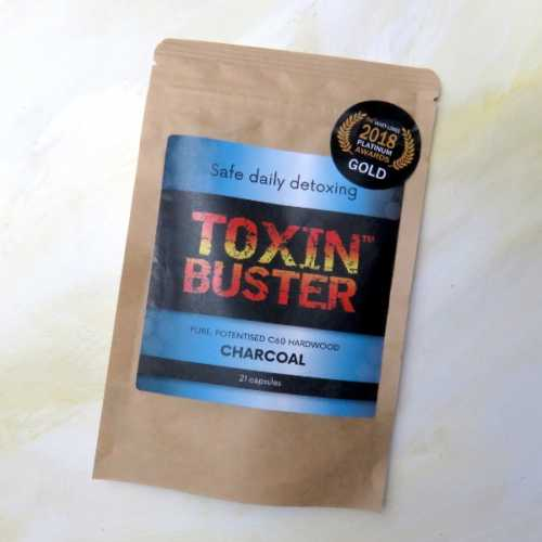 Toxin Buster Pure Hardwood Charcoal Capsules 21