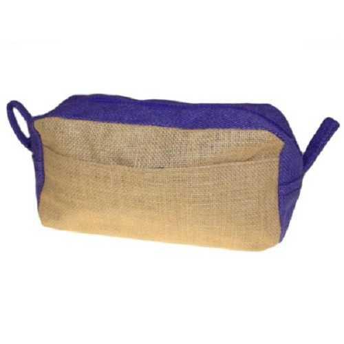 Jute Toiletry Bag - Natural and Lavender
