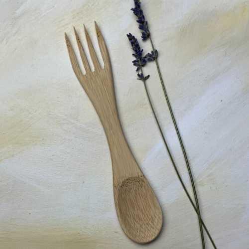 Bamboo Spork 2 in 1