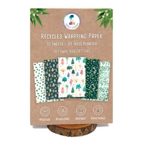 Eco-Friendly Everyday Wrapping Paper & Tags x 10