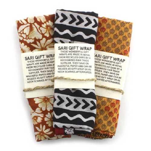 Furoshiki Gift Wrap Recycled Sari