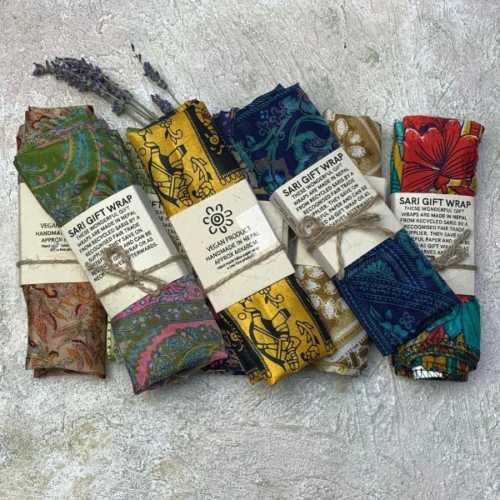 Recycled Sari Furoshiki Gift Wrap new