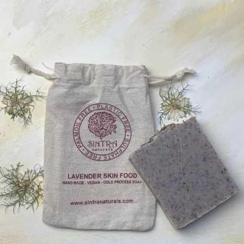 Lavender Skin Food Soap in bag