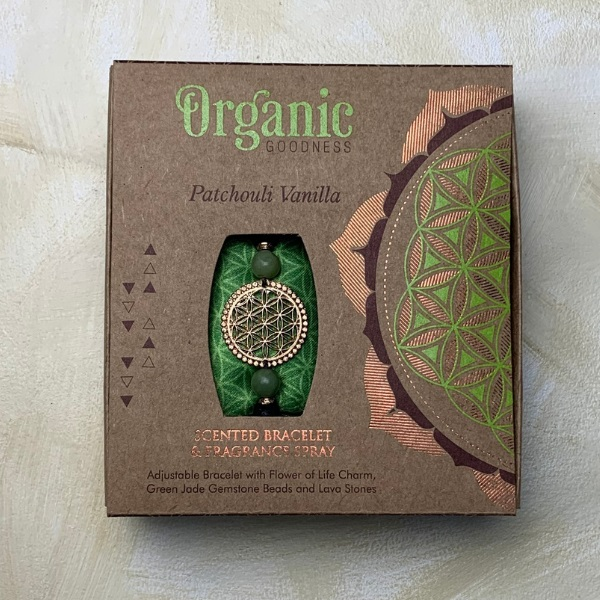 Organic Goodness Scented Bracelet + Spray - Patchouli Vanilla boxed