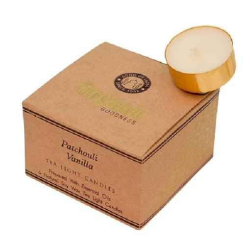 Organic Goodness Tealights x 12 - Patchouli Vanilla