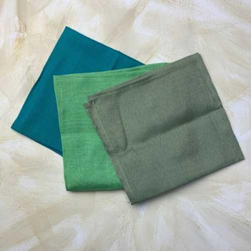 Handkerchiefs Recycled Cotton x 3 open