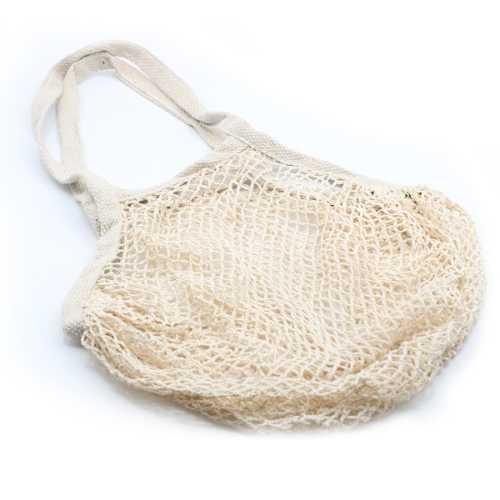 Cotton Mesh Shopping Bag - Natural