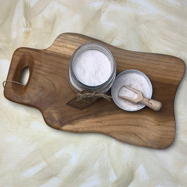 Himalayan Salt Jar and Scoop open