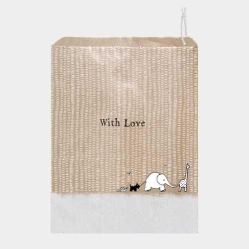 East of India Kraft Gift Bag - Love Animals